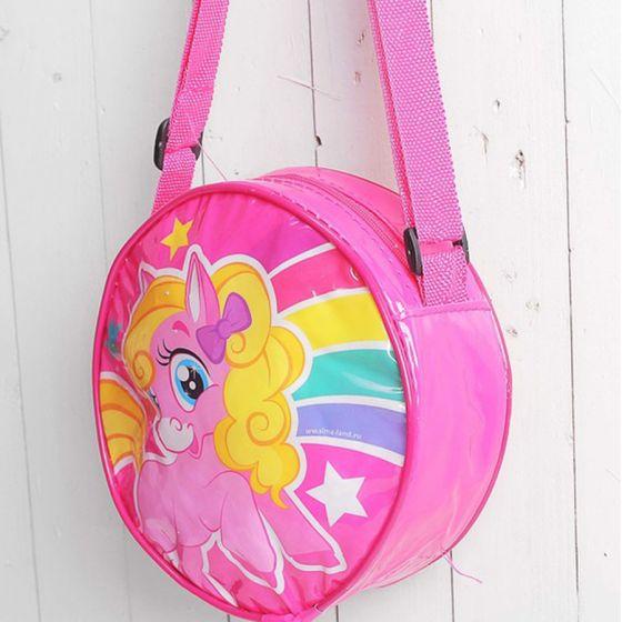 Круглая детская сумочка «Пони»