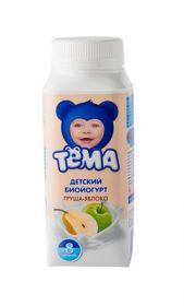 Йогурт Тёма 2.8% питьевой груша/яблоко 200г Юнимилк