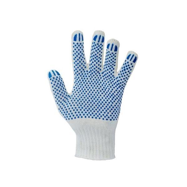 Перчатки х/б 7,5кл №5 белая с ПВХ Точка уп. 2шт
