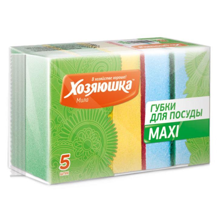 Губка д/посуды ХОЗЯЮШКА MAXI 5шт/ Г-07