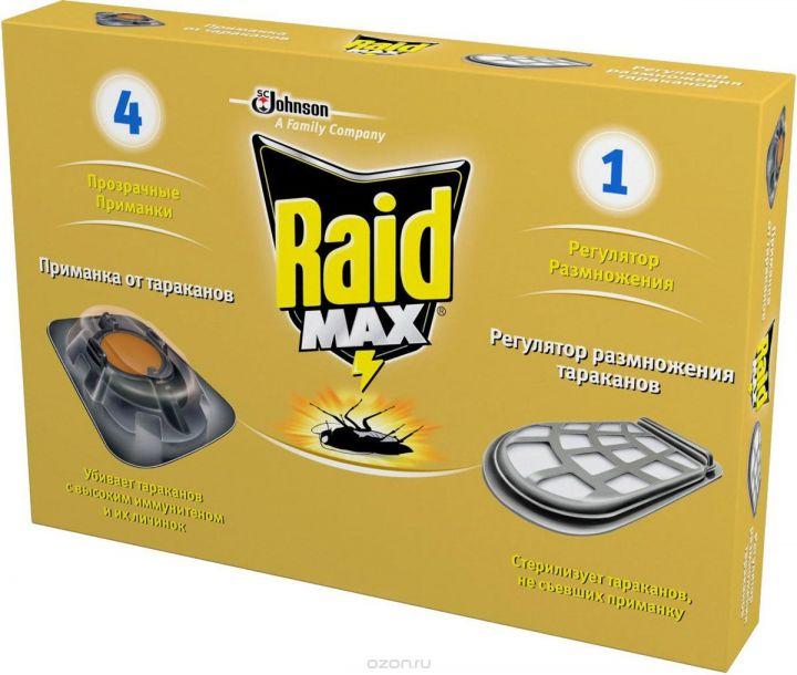 Приманка д/тараканов Raid макс Регулятор размножения 4+1 шт.