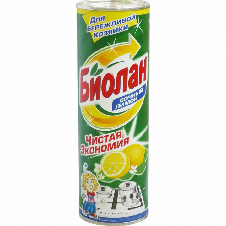 Чист.средство Биолан 400г Сочный лимон фн