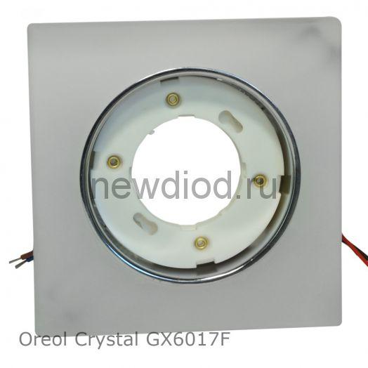 Точечный светильник Oreol Crystal GX6017F 120х120/85мм под лампу GX53 H4 квадрат, белый, матовый