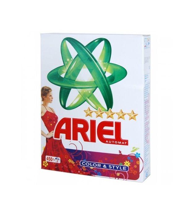 Стир. порошок Ариель 450г автомат Color&Style *