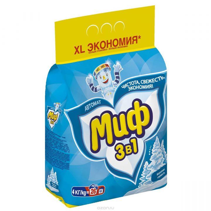 Стир. порошок Миф 4кг автомат Морозная свежесть