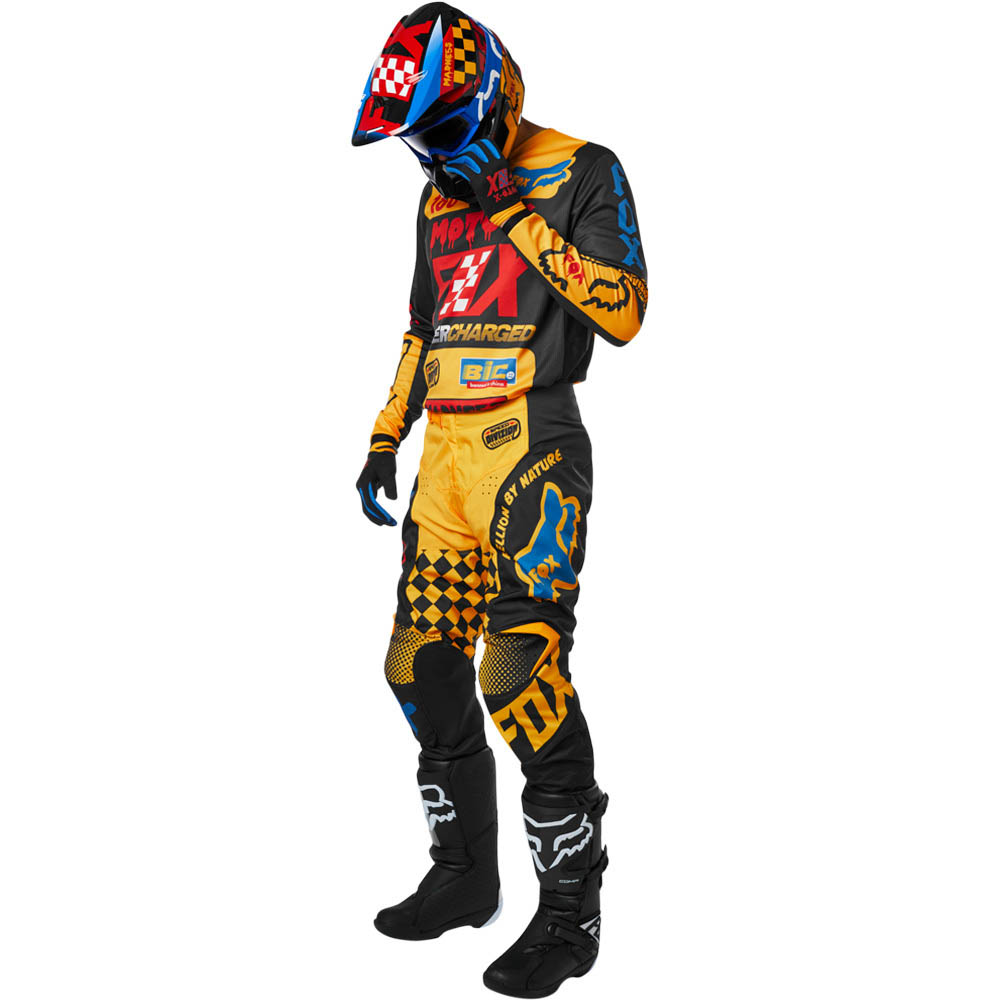 Fox - 2019 180 Youth Czar Black/Yellow комплект подростковый джерси и штаны, черно-желтый
