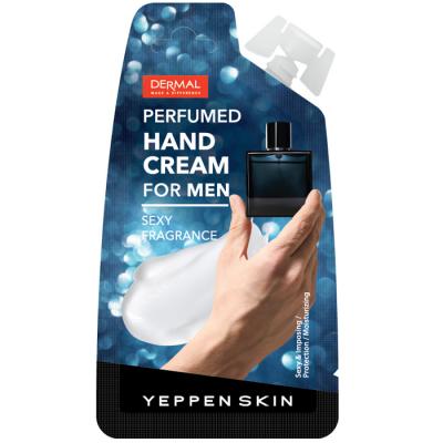 Dermal Yeppen Skin Perfumed Handcream for Men Мужской парфюмированный крем для рук с маслом ши, скваланом, гиалуроновой кислотой чувственный аромат 20 гр
