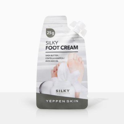 Dermal Yeppen Skin Silky Foot Cream Смягчающий и увлажняющий крем для ног Шелковые ножки с маслом Ши и авокадо и экстрактом центеллы азиатской 20 гр