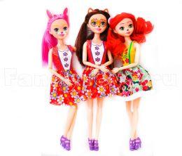 Набор из 3-х кукол Enchantimals 30 см. (Фокс (Лиса), Бри (Кроля), Карина (Коала) (TopToys)