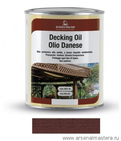 Масло датское Borma Decking Oil 1л для террас Махагон 4971-IL-622