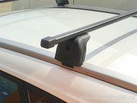 Багажник на крышу Lada Xray Cross, Lux, стальные прямоугольные дуги на интегрированные рейлинги