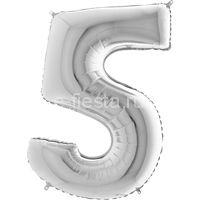 Фигура Цифра 5 Silver 99см