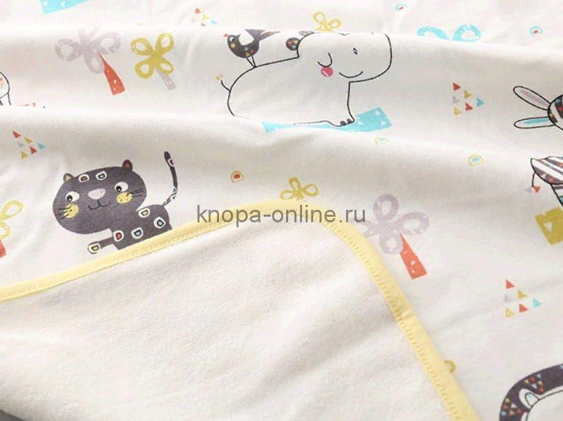 Двусторонняя непромокаемая пеленка - Слон и кот (50х70)