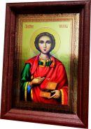 Икона ПАНТЕЛЕЙМОН ЦЕЛИТЕЛЬ, металлизированная, 10х15см.