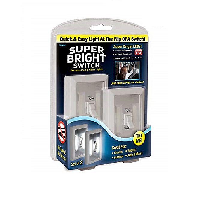 Беспроводной светодиодный светильник Super Bright Switch, 2 шт