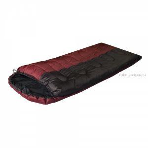 Спальный мешок Prival Camp Bag + бордовый /одеяло с подголовником, размер 220х95, t 0 +15С