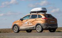 Багажник на крышу Lada Xray Cross, Lux, крыловидные дуги на интегрированные рейлинги