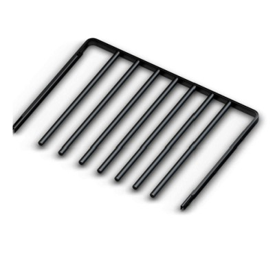 Вешалка для брюк выдвижная,  серия 460, L=550, черный