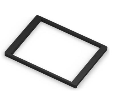 Рамка для корзин выдвижная с доводчиком, темный декор, серия 460, L=607, черный
