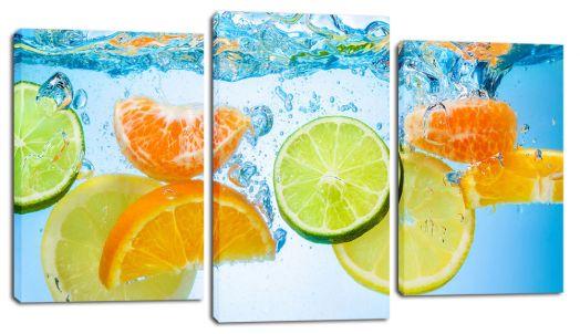 Модульная картина Цитрусовые в воде