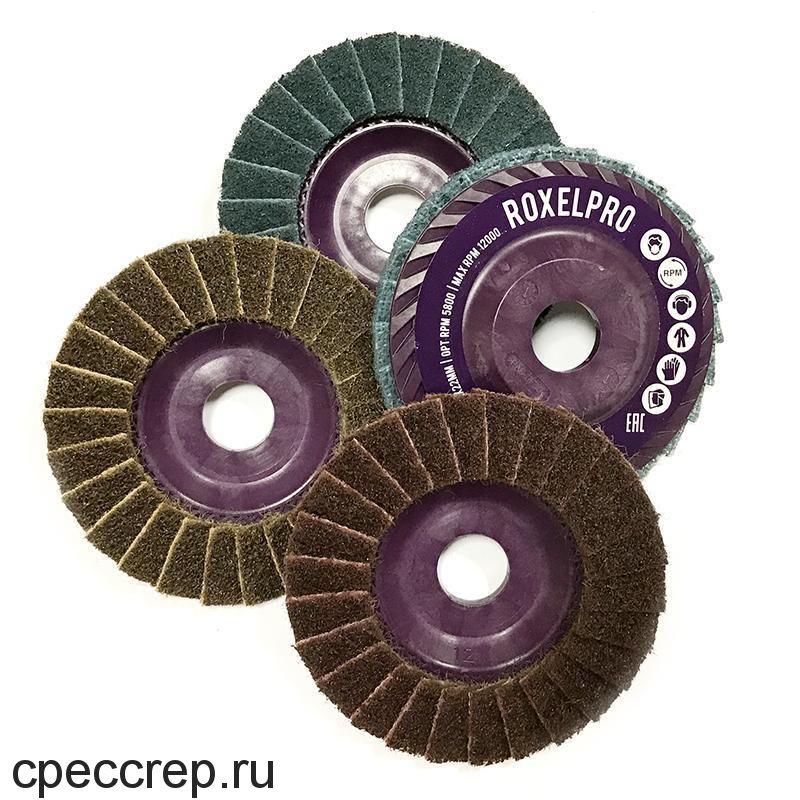 Лепестковый комбинированный шлифовальный круг 115 х 22мм, конический, Medium+Р80