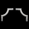 Угловой элемент Европласт Лепнина 1.52.300 Ш300хВ300хТ21