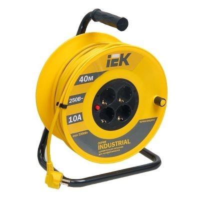 Сетевой удлинитель IEK катушка УК50 с т/з 4 места 2Р+PЕ/50м 3х1,5 мм2 ''Industrial''