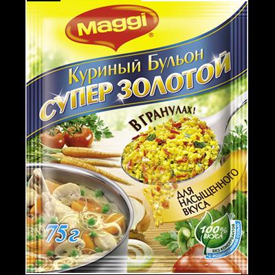 Бульон Магги куриный Супер Золотой гранулы 75г