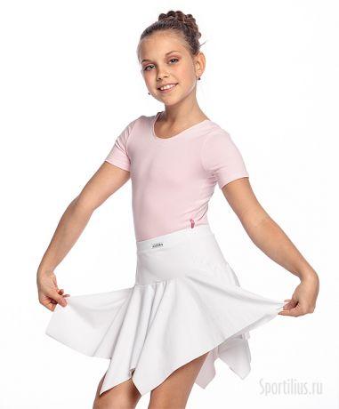 юбка клиньями детская, белая
