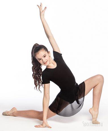 чёрная юбка-сетка для гимнастики