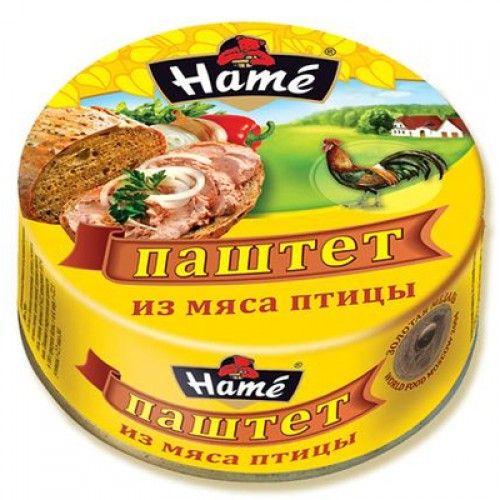 Паштет ХАМЕ 250г мясо птицы ж/б