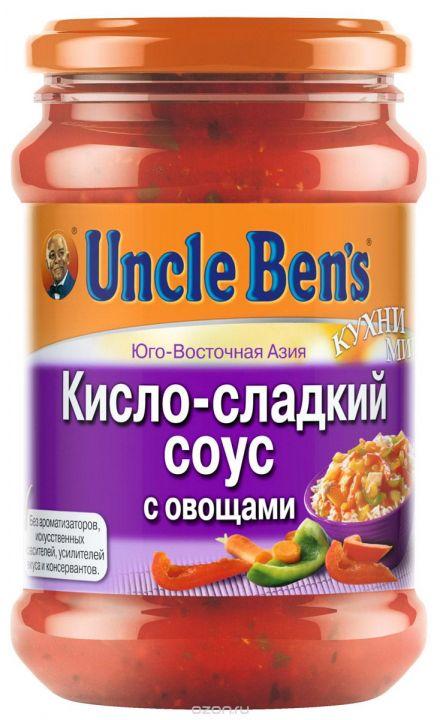 Соус Анкл Бенс кисло/сладкий с овощами 210г