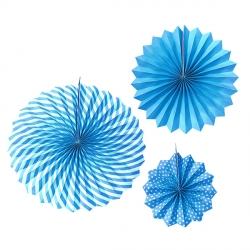 Набор из 3 фантов Голубой с узором