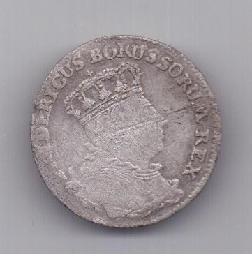 6 грошей 1757 года Русско - Прусская война