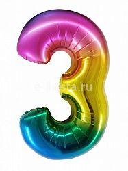 "Цифра ""3"" радуга 86см"