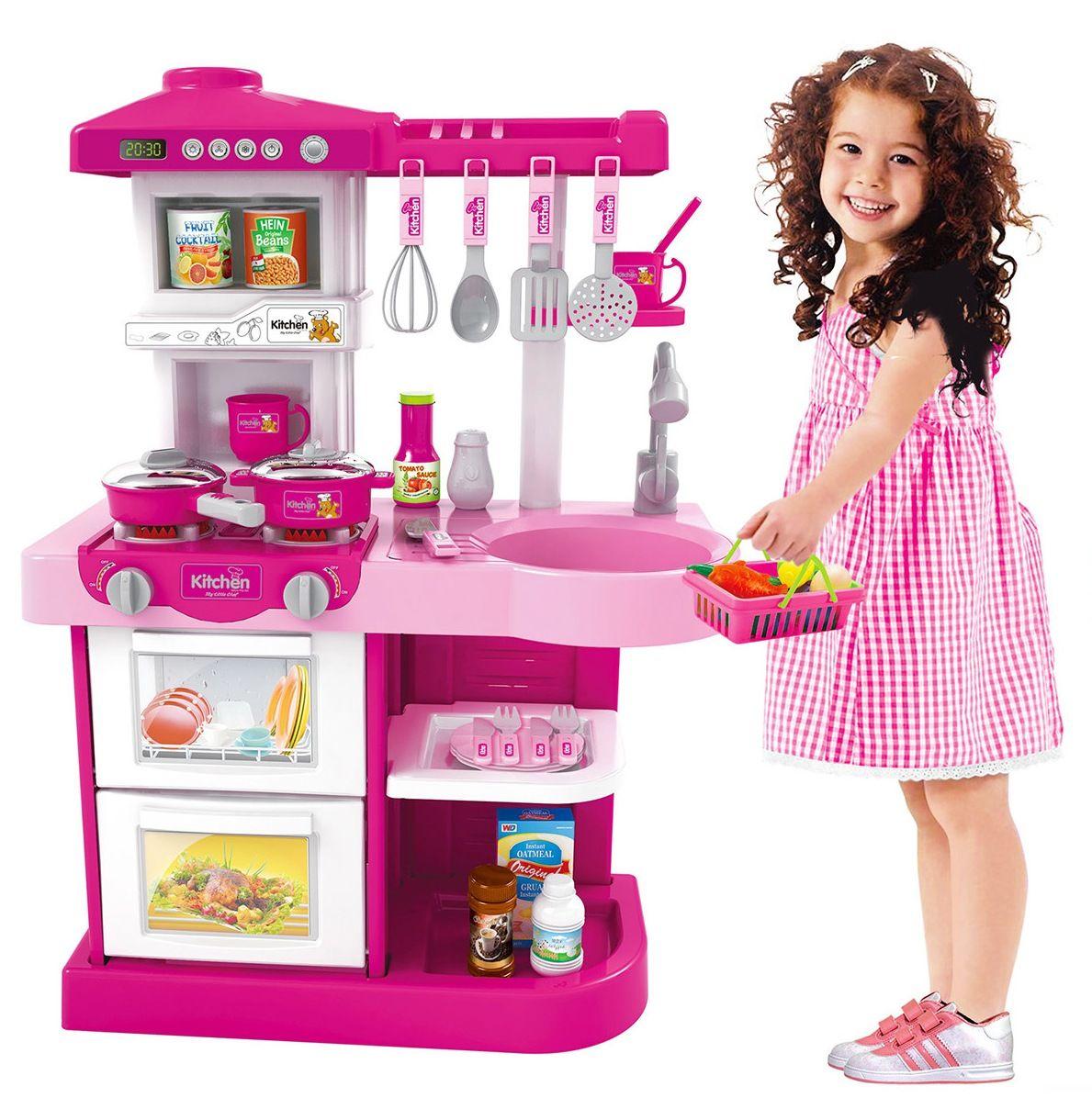 WD-A17 Детская кухня с большой мойкой с музыкальными и световыми эффектами