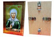 Икона МАТРОНА МОСКОВСКАЯ, металлизированная, 21х29,7 см в клип-рамке стекл