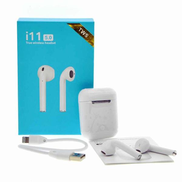 Беспроводные Наушники i11TWS Bluetooth 5:0 SuperBass (сенсорные)