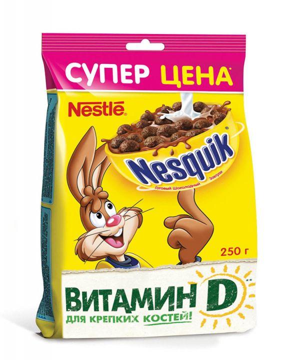 Завтрак Несквик шоколадный 250г (пакет) Нестле