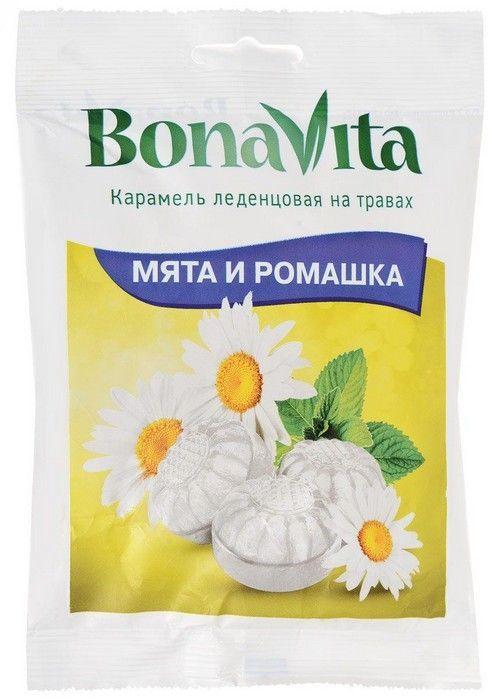 Карамель Бона Вита леденцовая на травах Мята и Ромашка 60г