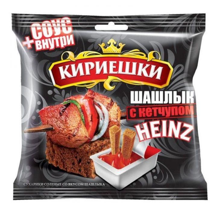 Сухарики Кириешки 60г ржаные шашлык с кетчупом