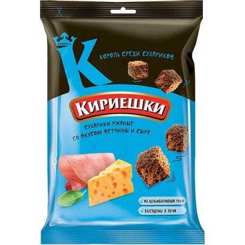 Сухарики Кириешки 100г Ветчина и Сыр