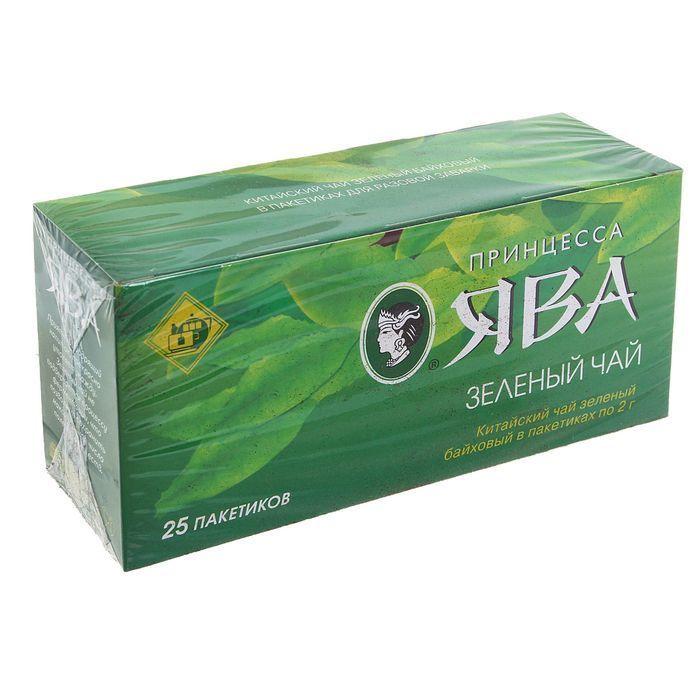 Чай Принцесса Ява Дабл Зелёный 25пак*2г