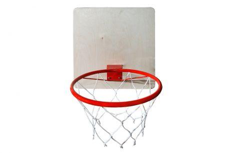 Кольцо баскетбольное с сеткой КМС d=295 мм