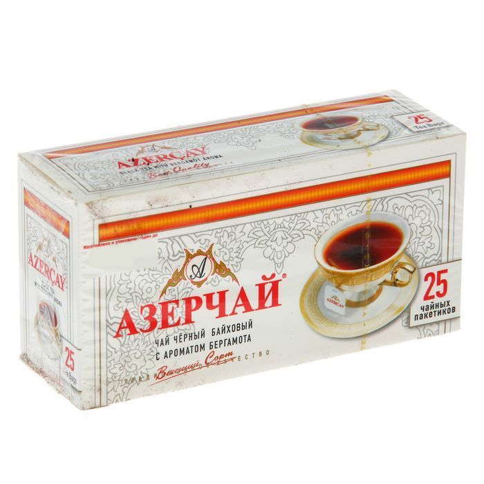Чай Азерчай Бергамот 25пак*2г б/конв. Кубань