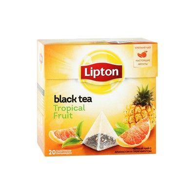 Чай Липтон Сэр Томас Тропические фрукты (пирамидки) 20пак.*1,8г