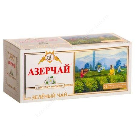 Чай Азерчай зеленый 25пак*2г Кубань