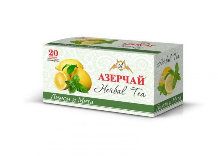Чай Азерчай Лимон и мята 20пак*2г Кубань