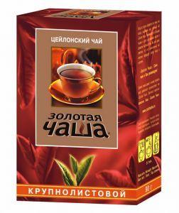 Чай Золотая чаша крупнолистовой 90г