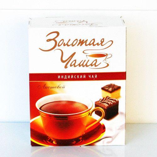 Чай Золотая чаша индийский мелколистовой Крепкий 250г